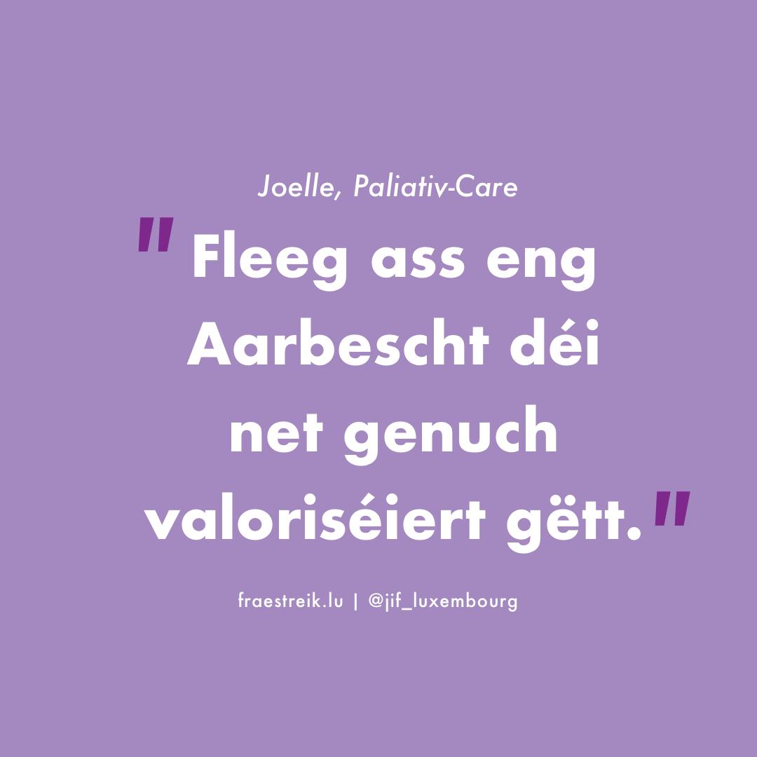 Palliative Care – och Stierfbegleedung ass Care-Aarbecht!